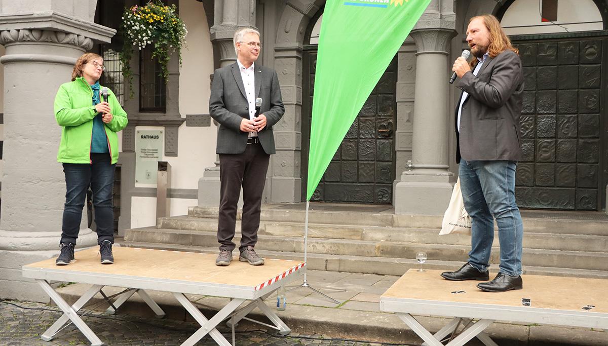 Norika Creuzmann, Jörg Schlüter und Toni Hofreiter